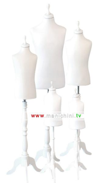 busti-sartoriali-bimbo-bianchi-treppiede-legno-bianco